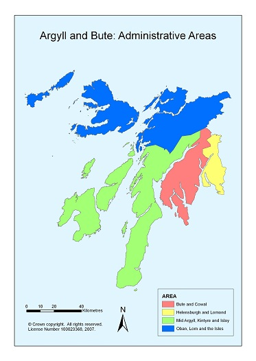 Argyll and Bute Administrative Areas