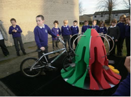 Cyclepod parking at St Mun's