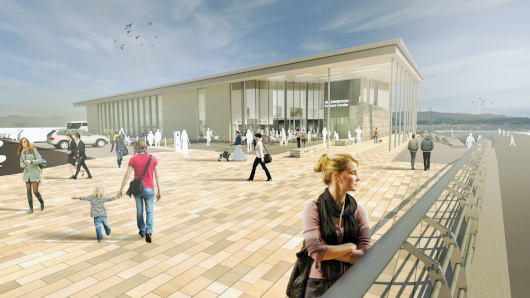 Artist's impression - entrance to new development