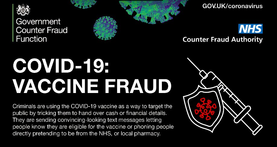 be alert for Covid vaccine scams
