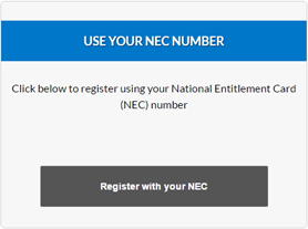 register using NEC