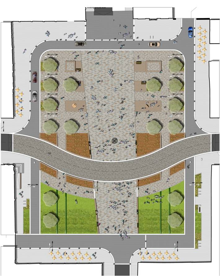 Colquhoun Square as proposed