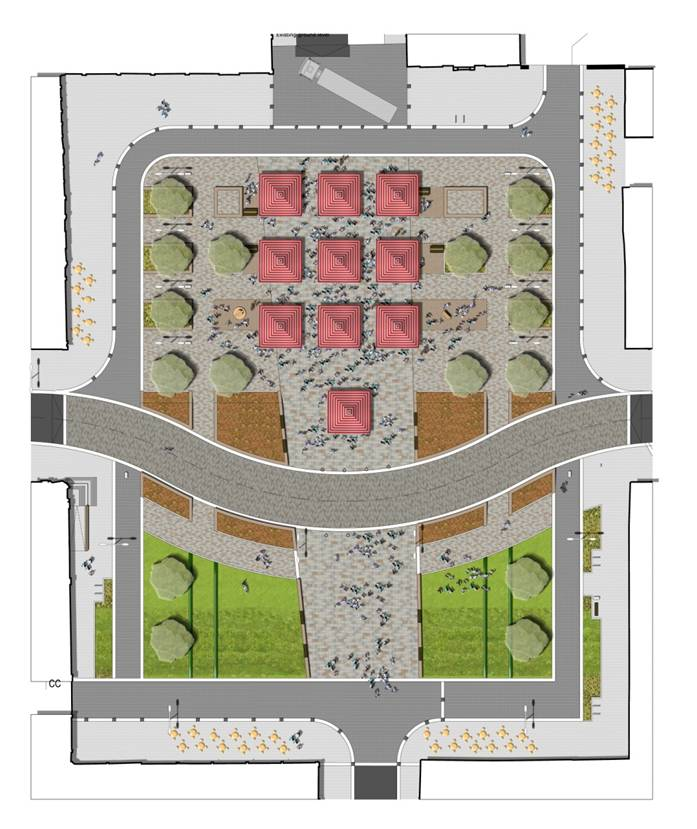 Colquhoun Square configuration for food festival