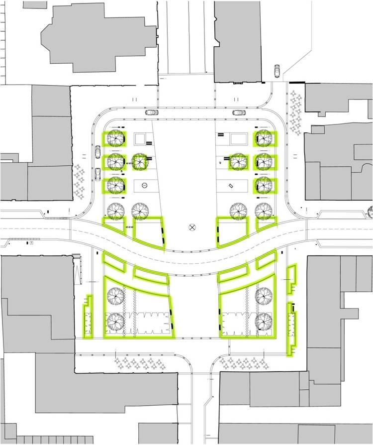 Planting structure of Colquhoun Square