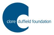 Clore Duffield banner