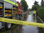 Fire services at a flood