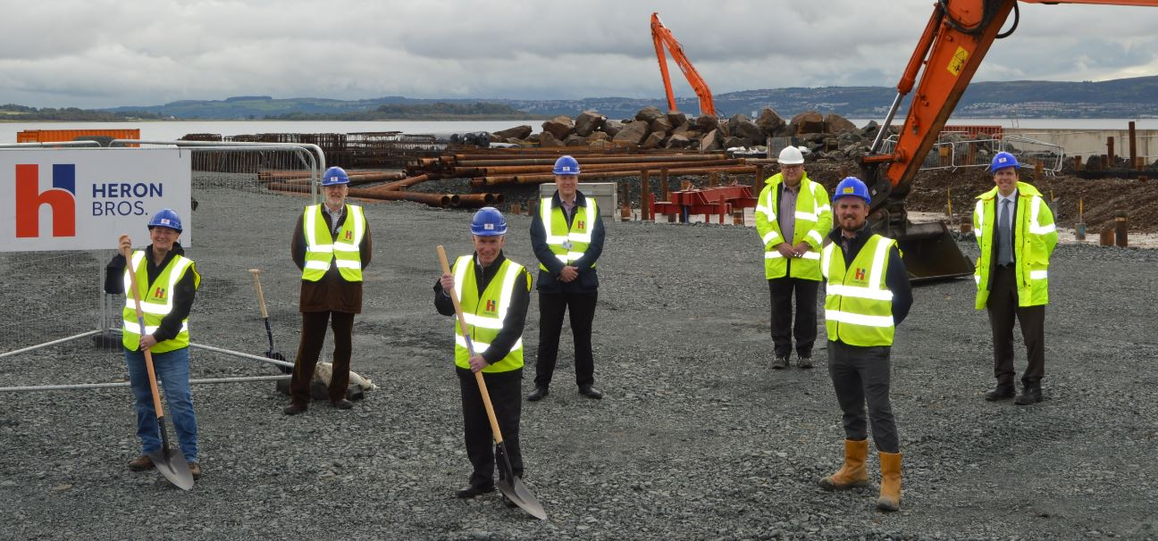Key partners break the ground at Helensburgh Waterfront