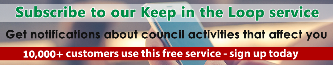 Sign up for alerts with our Keep in the Loop service