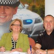 Chief Executive Sally Loudon and Chief Superintendent Barry McEwan