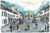 Drawing of Inveraray Main Street