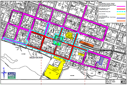 Proposed changes to the restricted parking area in Helensburgh map