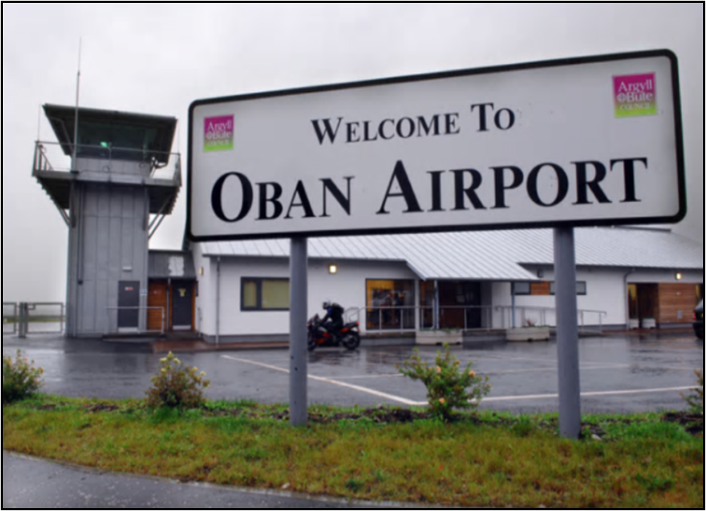 Oban Airport Business sign