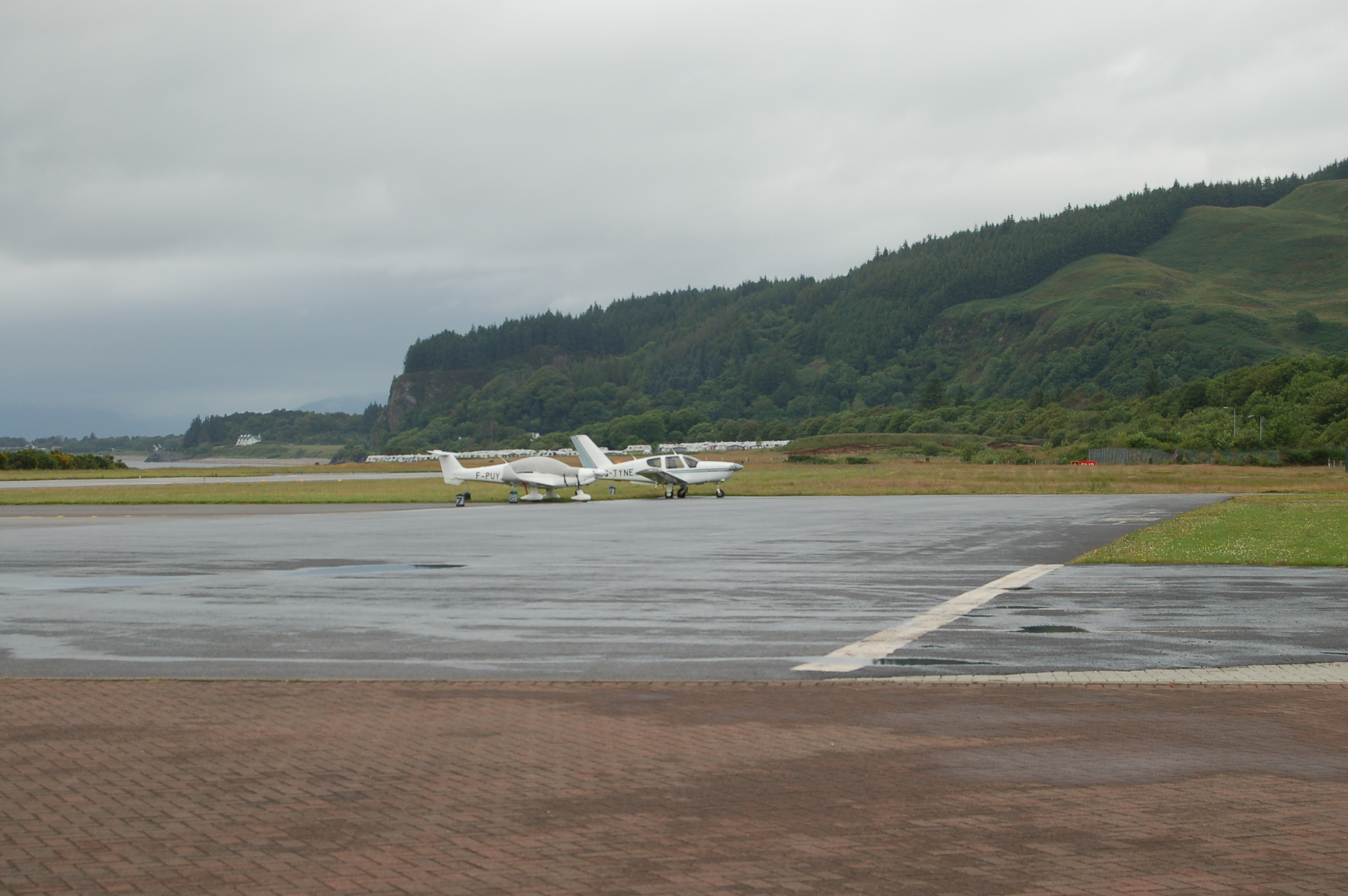 A general view picture of Oban Airport