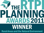 The RTPI Planning Awards 2011Winner logo