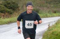A picture of Stephen Harrison running in the 2018 Islay Marathon