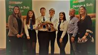 A picture of the Dunoon Grammar School pupils who won the Subway competition