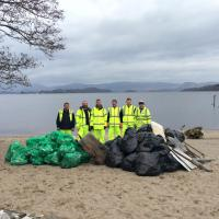 A picture of the litter-picking team