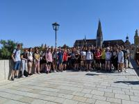 A photo of Dunoon and German pupils in Germany
