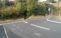 The new junction at Barmore Road, Tarbert
