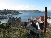A view looking over the town to Oban Bay