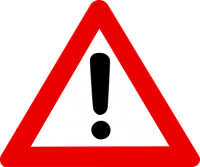 warning sign - a red triangle with exclamation mark