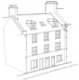 Drawing of tenement