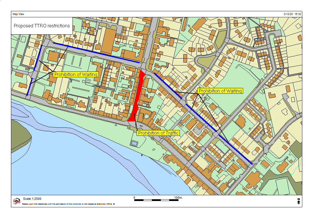 Parking restrictions map - Lochgilphead