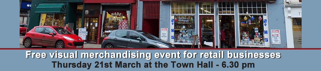 Free visual merchandising event in Campbeltown
